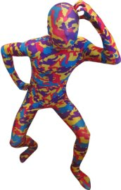 Camouflage Zentai Suit | Red and Blue Spandex Lycra Zentai Suit