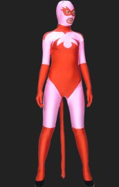 Catwoman-Pink and Red Full Body Spandex Lycra Zentai Suit