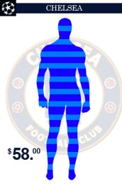 Chelsea Team Uniform Zentai Suit