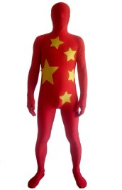 China Flag Zentai Suit