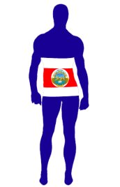 Costa Rica Flag Spandex Lycra Zentai Suits