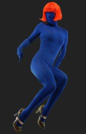 Dark Blue Full-body Unisex Modal Zentai Suit