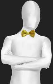 Dark Yellow Satin Bow Tie