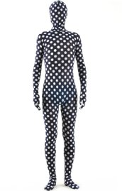Dot Full Body Suit / Black and White Dot Spandex Lycra Zentai Suit