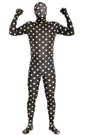 Dots Zentai Suit | Black and White Dots Spandex Lycra Zentai