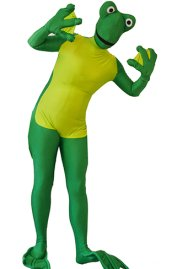 Frog Costume 3 | Green and Yellow Spandex Lycra Zentai Suit