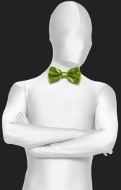 Fruit Green Satin Bow Tie