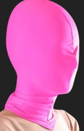 Fuchsia Lycra Zentai / Full Body Suit Hood
