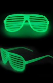 Glow-in-the Dark Shutter Shades