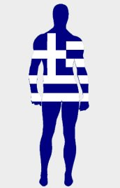 Greece Flag Spandex Lycra Zentai Suit