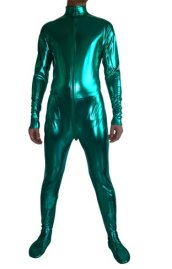 Green Shiny Metallic Catsuit (No Hood No Hand)