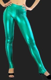 Green Shiny Metallic Pants