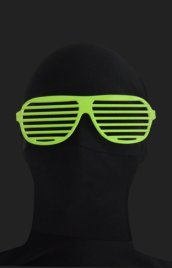 Green Shutter Shades Zentai Suit Sunglasses