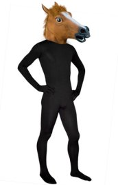 Horse Mask - Brown Latex Hood