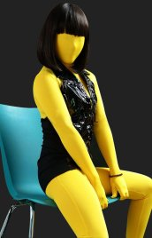 Lemon Yellow Full-body Unisex Modal Zentai Suit