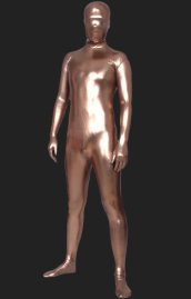 Light Brown Shiny Full Body Suit | Full Body Shiny Metallic Unisex Zentai Suits