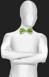 Light Green Satin Bow Tie