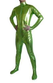 Light Green Shiny Metallic Catsuit (No Hood No Hand)