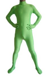 Light Green Spandex Lycra Catsuit (No Hood No Hand)