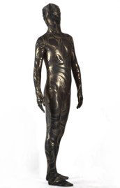 Limited | Black and Gold Flow Pattern Shiny Metallic Zentai Suit