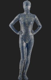 Limited! Black and Gold Pattern Full Body Shiny Metallic Unisex Zentai Suit