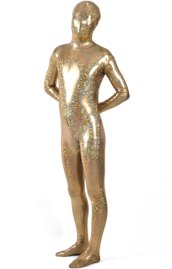 Limited | Coffee Starry Patterned Shiny Metallic Zentai Suit
