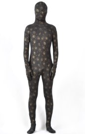 Limited | Dark Brown Patterned Spandex Lycra Zentai Suit