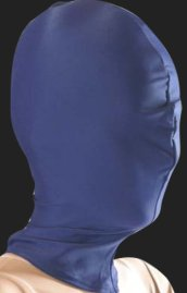 Navy Blue Zentai / Full Body Suit Hood