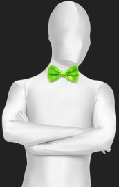 Neon Green Satin Bow Tie