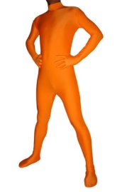 Orange Spandex Lycra Catsuit (No Hood No Hand)