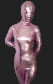 Pink Shiny Full Body Suit | Full-body Unisex Shiny Metallic Zentai Suits