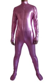 Pink Shiny Metallic Catsuit (No Hood No Hand)