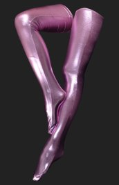 Pink Shiny Metallic Long Stockings