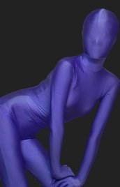 Purple Blue Full Body Suit | Full-body Lycra Spandex Unisex Zentai Suit