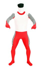 Racer Zentai Suit | Red and Black Spandex Lycra