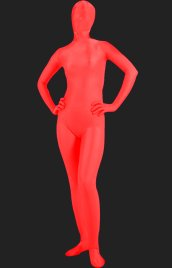 Red Full-body Lycra Spandex Silk Unisex Zentai Suit