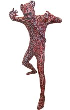 Red Leopard Catsuit with Ears and Tail