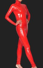 Red PVC Jumpsuit