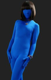 Royal Blue Full-body Tights Modal Zentai Suit