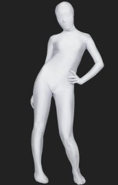Silver White Full Body Suit | Full-body Tights Lycra Spandex Zentai Suit