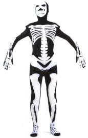 Skeleton Zentai Suit | Black and White Patterned Spandex Lycra Zentai Suit