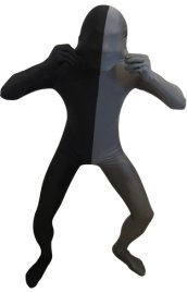 Split Zentai | Black and Slate Grey Spandex Lycra Zentai Suit