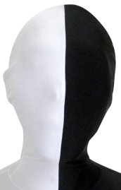 Split Zentai Mask | White and Black