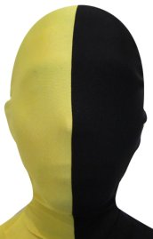 Split Zentai Mask | Yellow and Black