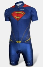 Superman Man of Steal Printing Triathlon Skinsuit