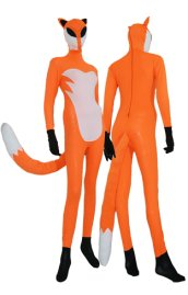 The Fox Costume | Orange and White Spandex Lycra Zentai Suit