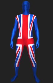 Union Jack Full Body Suit | England Full Body Suits | Spandex Lycra Zentai Suit