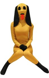 Wheat Puppy Spandex Lycra Zentai Suit
