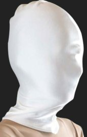 White Lycra Zentai / Full Body Suit Hood