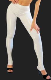 White Shiny Metallic Pants